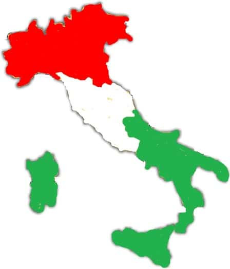 Northern Italians, Southern Italians, and those in between.