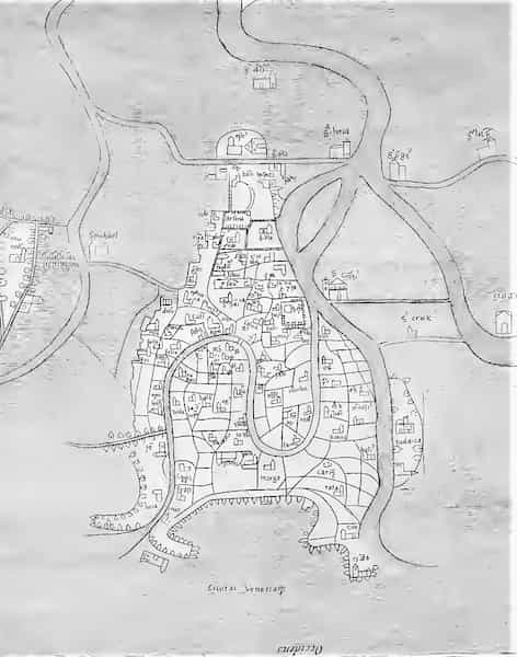 old map of venice